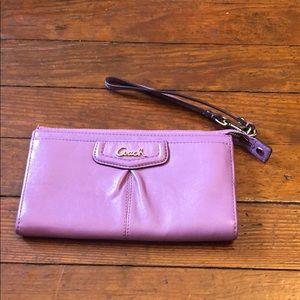 Coach Ashley Leather Zippy Wallet/Wristlet